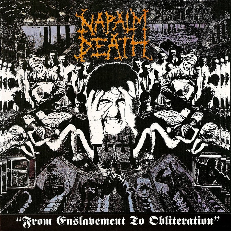 59. Napalm Death, 'From Enslavement to Obliteration' (1988) the 100 geatest metal albums, the rolling stone, металл
