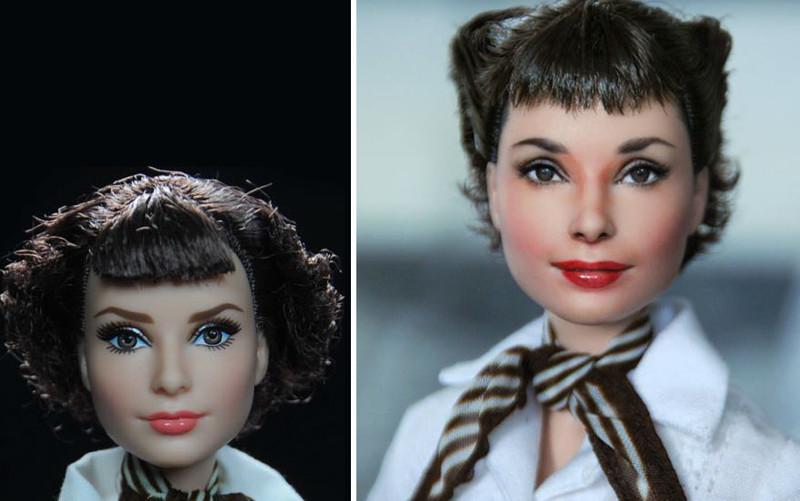 Одри Хепбёрн art, красиво, креатив, куклы, оригинально, творчество, фото, художник