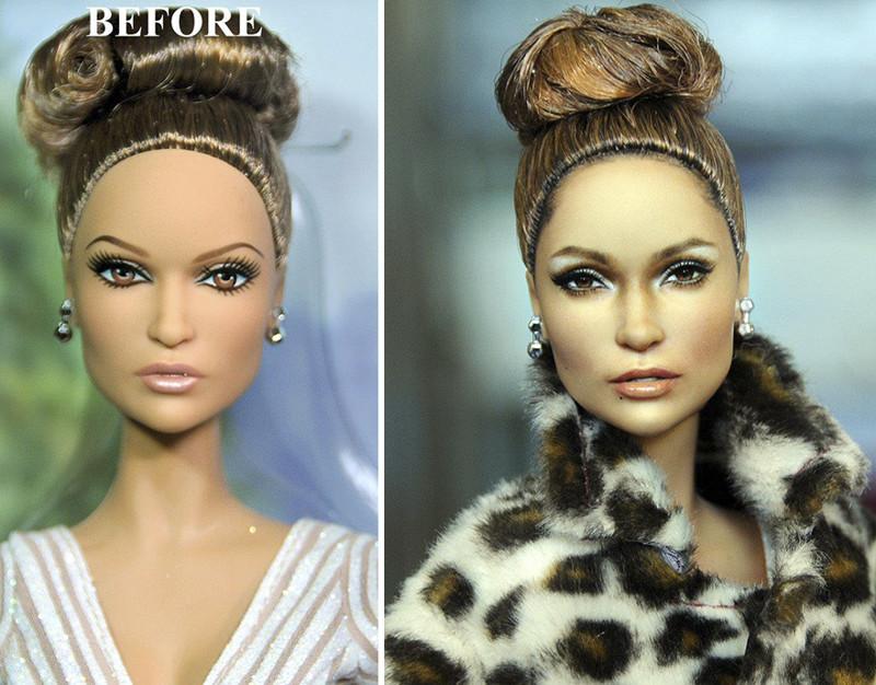 Дженнифер Лопес art, красиво, креатив, куклы, оригинально, творчество, фото, художник