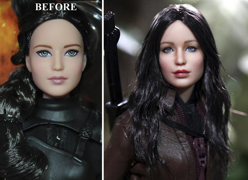 Дженнифер Лоуренс art, красиво, креатив, куклы, оригинально, творчество, фото, художник