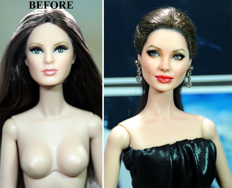 Анджелина Джоли art, красиво, креатив, куклы, оригинально, творчество, фото, художник