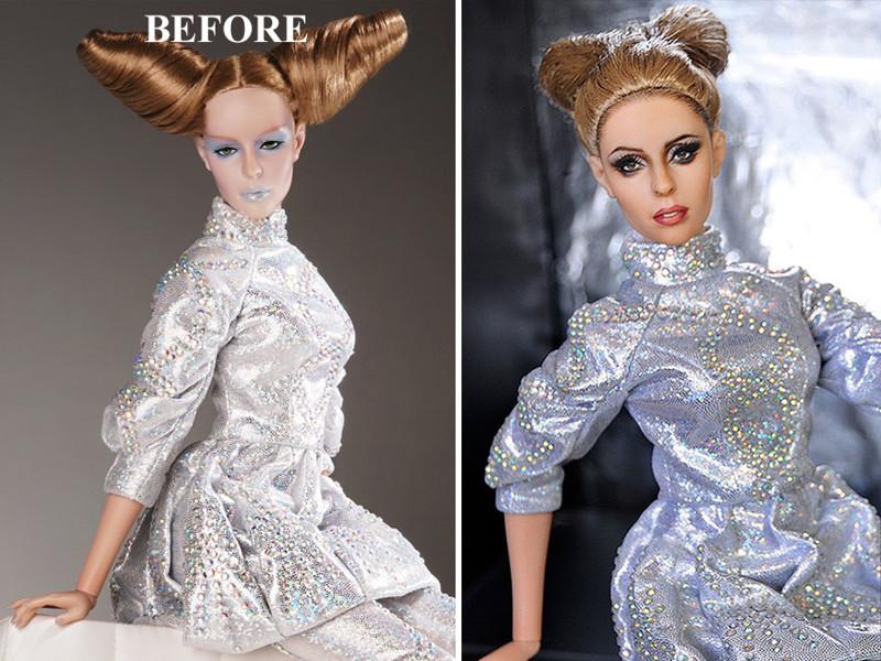 Леди Гага art, красиво, креатив, куклы, оригинально, творчество, фото, художник