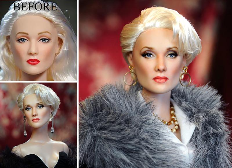 Мерил Стрип art, красиво, креатив, куклы, оригинально, творчество, фото, художник