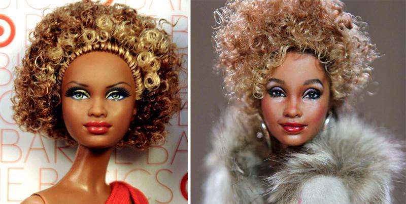 Уитни Хьюстон art, красиво, креатив, куклы, оригинально, творчество, фото, художник