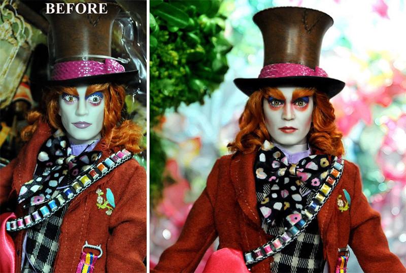 Джонни Депп art, красиво, креатив, куклы, оригинально, творчество, фото, художник