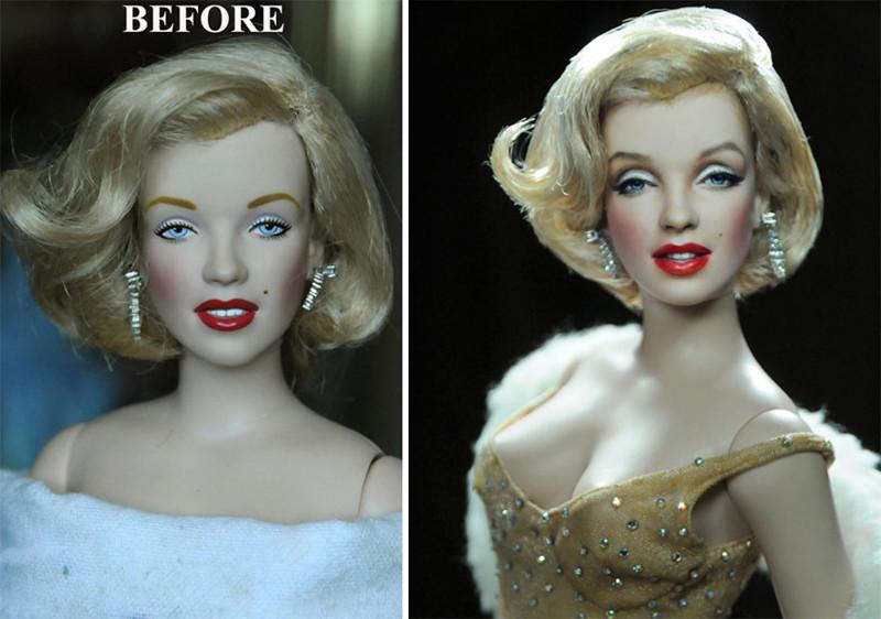 Мэрилин Монро art, красиво, креатив, куклы, оригинально, творчество, фото, художник