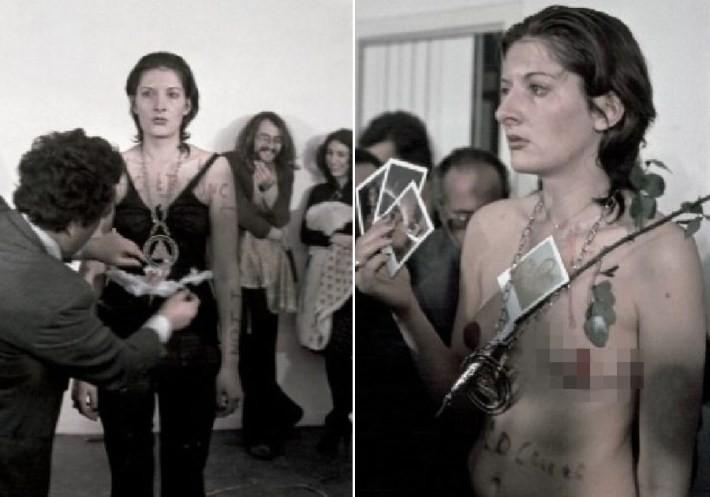Некоторые мужчины раздевали и лапали ее Марина Абрамович, люди, художница, эксперимент