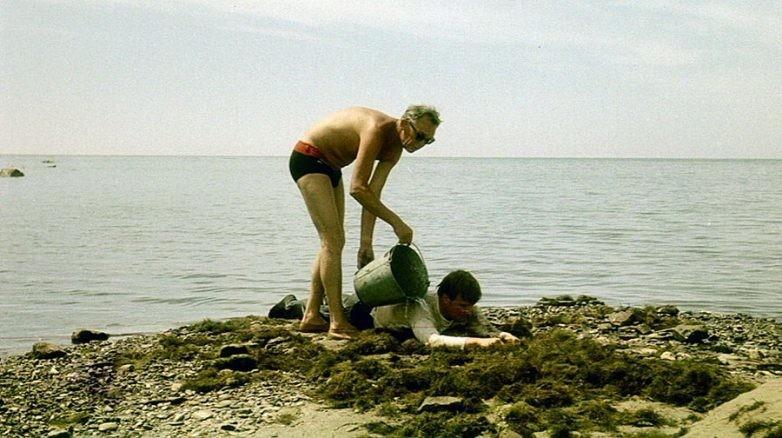 Леонид Гайдай и Андрей Миронов на съёмках фильма Бриллиантовая рука, 1968 год знаменитости, история, фото