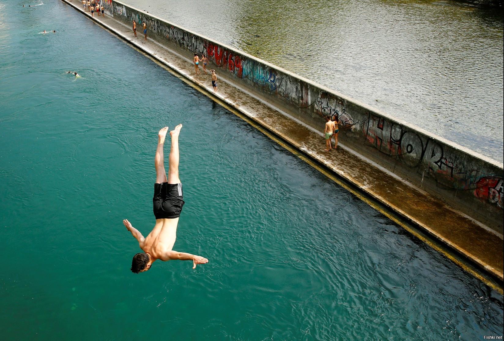 выглядит картинки спрыгнуть с моста крупной терке