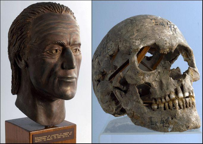 Была проведена реконструкция лица вождя. археология, гробница, захоронение, золото, интересно, мумия, раскопки, скелет