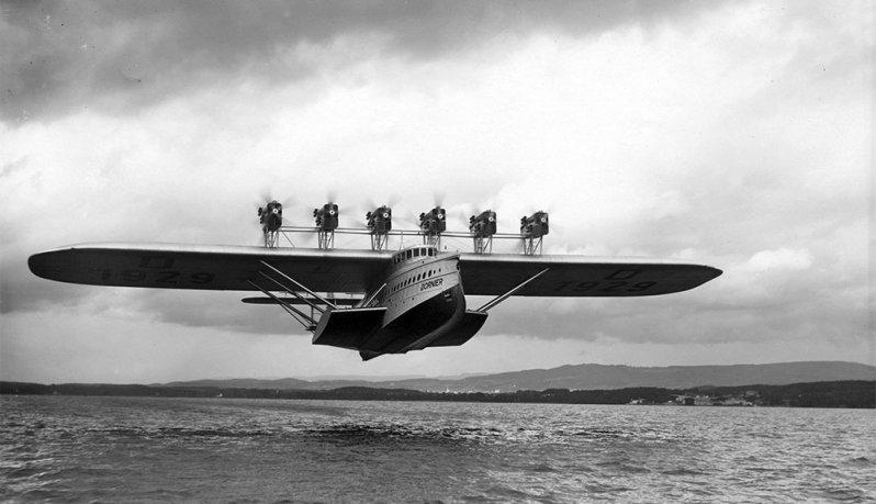 Взлетел! Do-X, Dornier, Дорнье, авиация, воздушная техника, пассажирский самолет, самолет, транспорт
