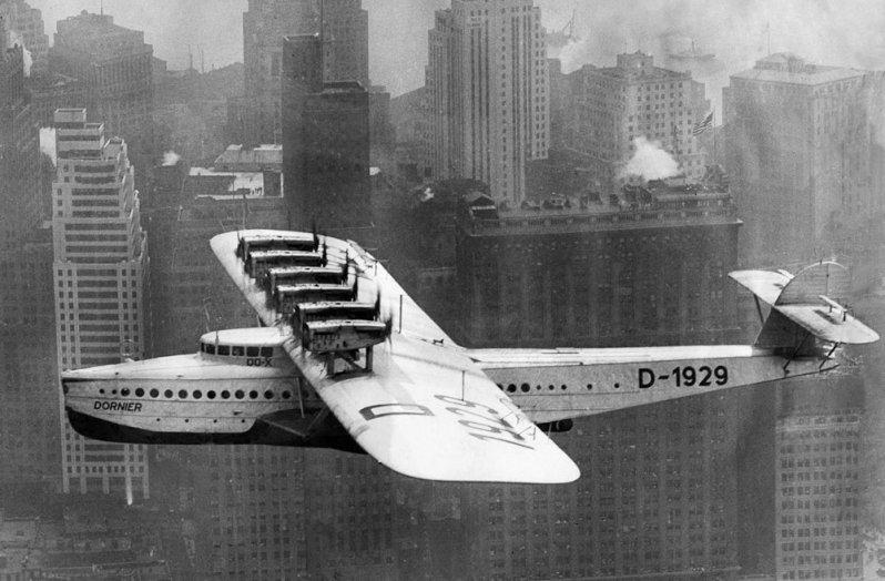 А потом был перелет в Нью-Йорк. Do-X, Dornier, Дорнье, авиация, воздушная техника, пассажирский самолет, самолет, транспорт