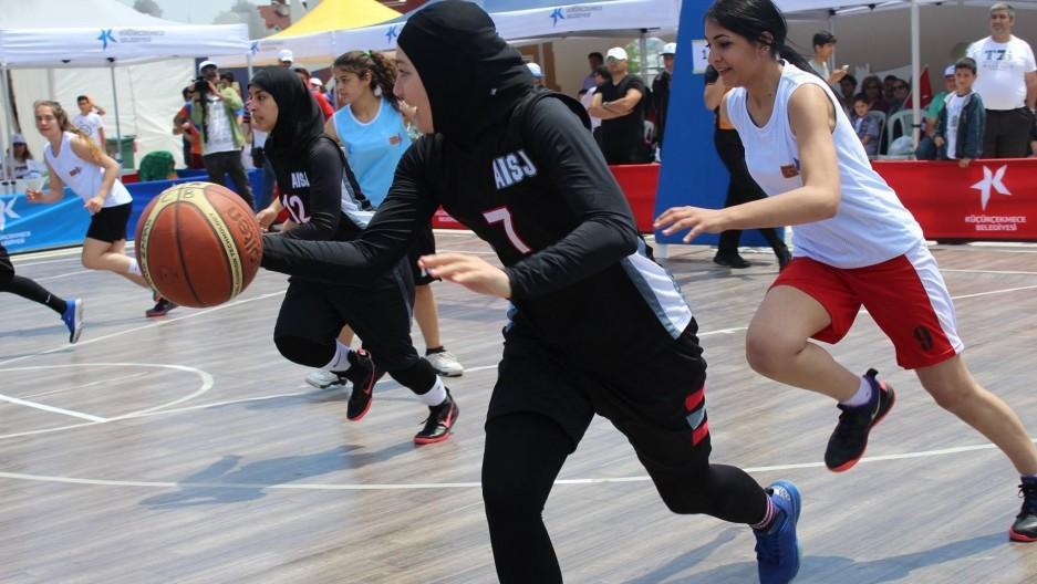 Баскетбол баскетбол, волейбол, олимпийские игры, пляжный волейбол, спорт, хиджаб