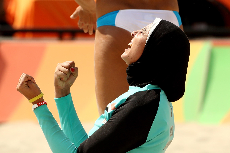 Пляжный волейбол баскетбол, волейбол, олимпийские игры, пляжный волейбол, спорт, хиджаб