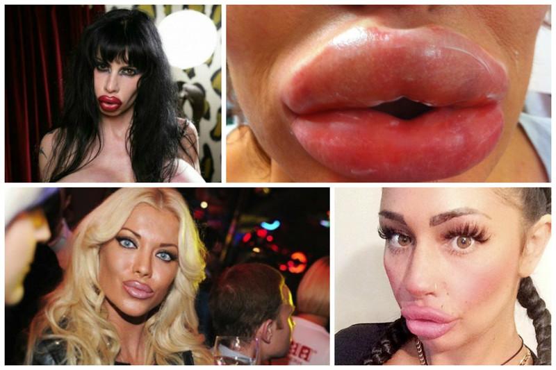 было противно, гигантские губы смазанные для качеству ничем