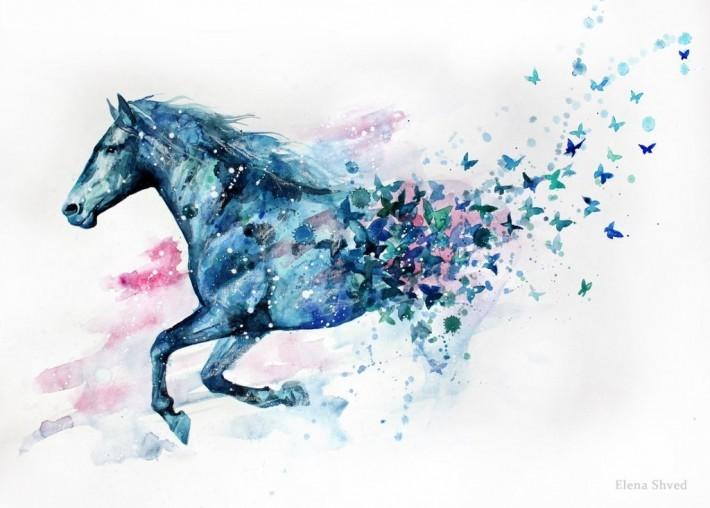 Рисунки лошадей акварелью желаете зарабатывать