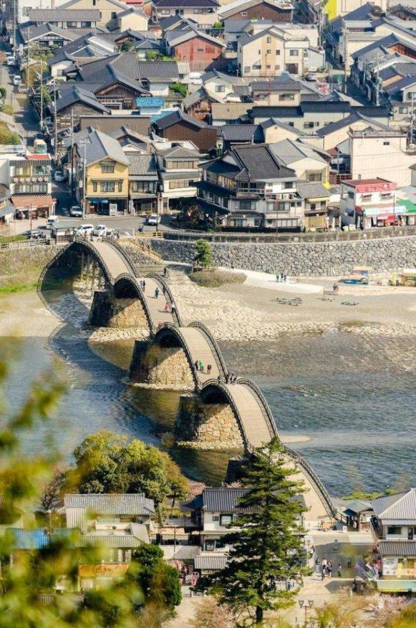Мост в Японии день, животные, кадр, люди, мир, снимок, фото, фотоподборка