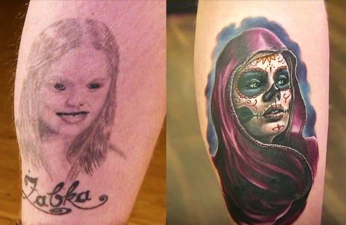 Нечто! до и после, неудача, ошибки, перекрытие, татуировки, трансформация, фото, юмор