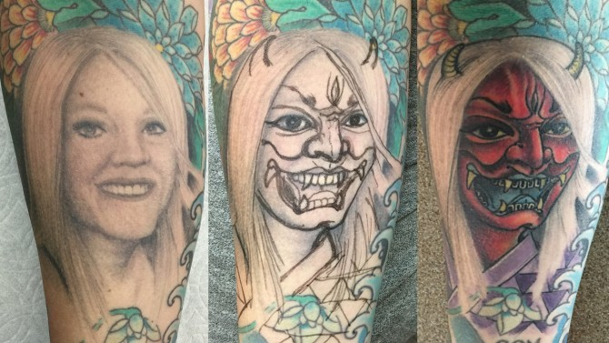 А что вы думаете о своей бывшей девушке? до и после, неудача, ошибки, перекрытие, татуировки, трансформация, фото, юмор