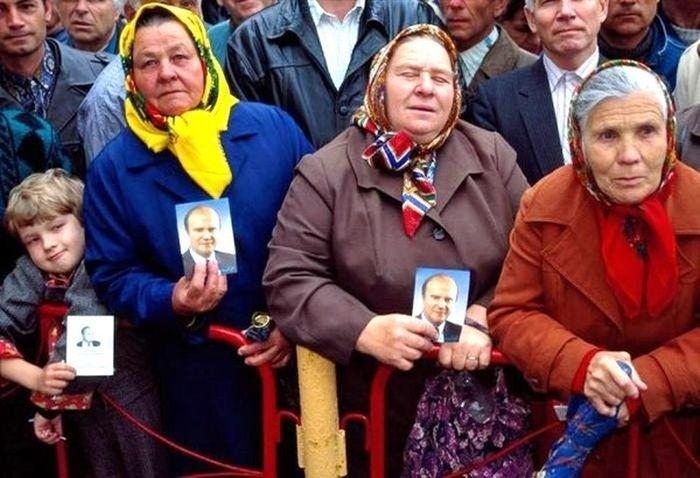 Народ - за коммунистов! вспомнить молодость, дорогие россияне, история, как это было, лихие 90-е, россия, фото, это наша с тобой биография
