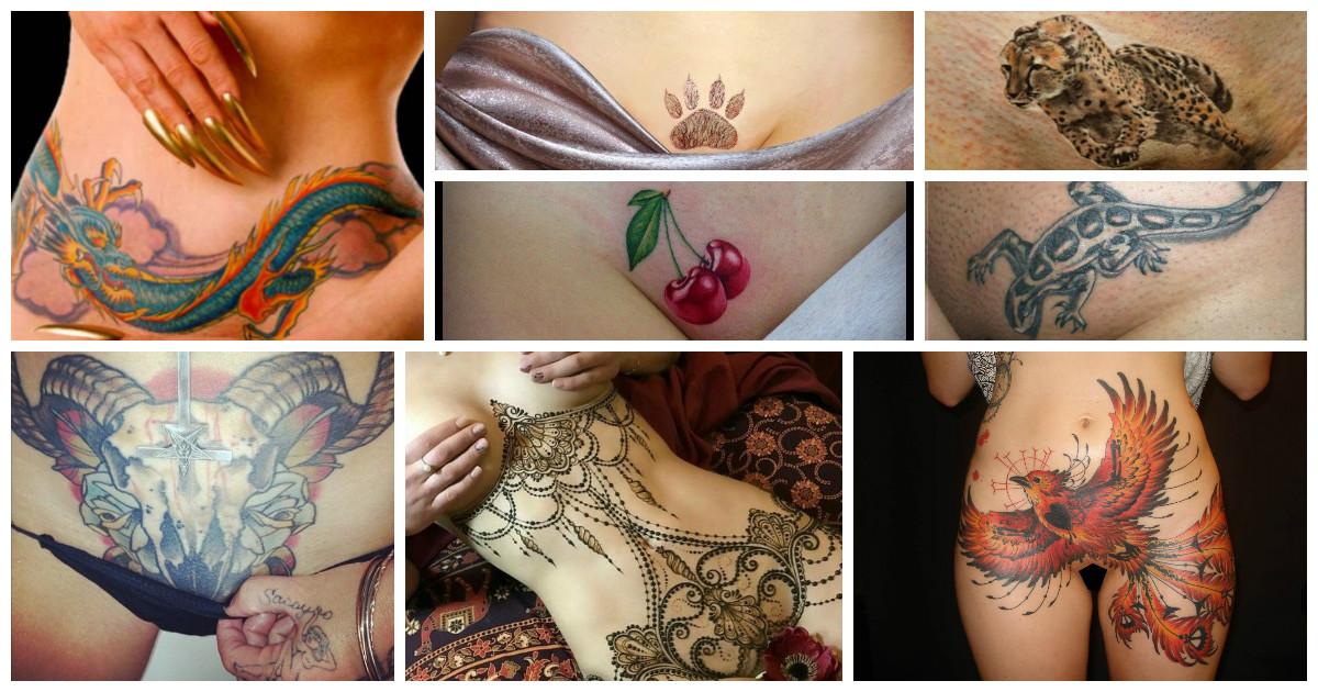 девушки с татуировками на интимных местах
