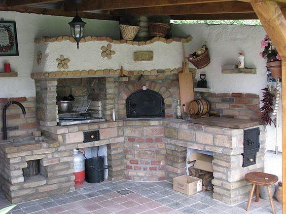 Также комплексы часто дополняют русской печью, варочной поверхностью, духовкой мойкой красота, кухня, мангал, печка, печные комплексы, свой дом, шашлык