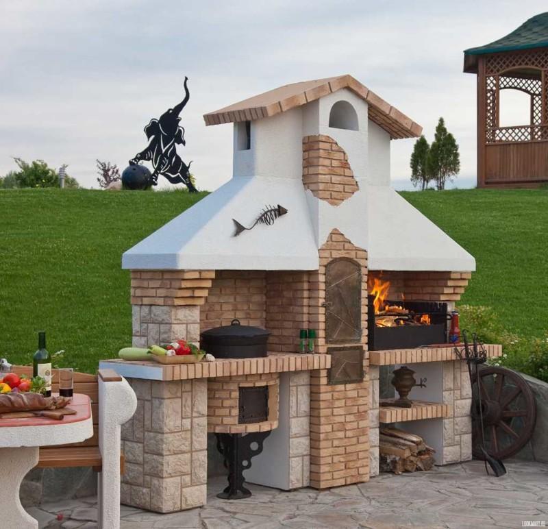 Отводят также отдельное место для казана. красота, кухня, мангал, печка, печные комплексы, свой дом, шашлык