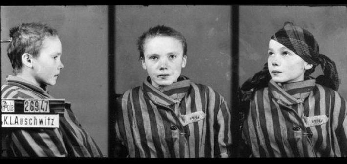 20. Четырнадцатилетняя узница Освенцима Чеслава Квока