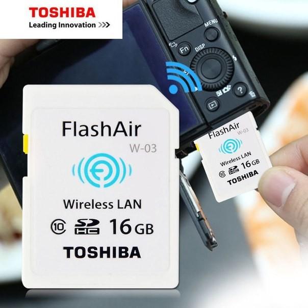1. Карта памяти TOSHIBA формата SDHC Class 10 со встроенным Wi-Fi aliexpress, будущее, гаджет, интернет-магазин, ноу-хау, покупки, юмор