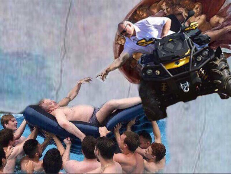 Фото Жириновского в бассейне с мальчиками взорвало интернет беларусы, картошка, лукашенко, прикол, путин, фотошоп, юмор