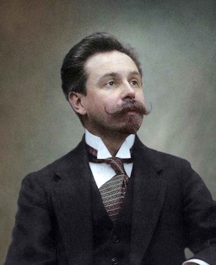 Александр Николаевич Скрябин (1913/14). история., колоризированные снимки, люди, россия, фото