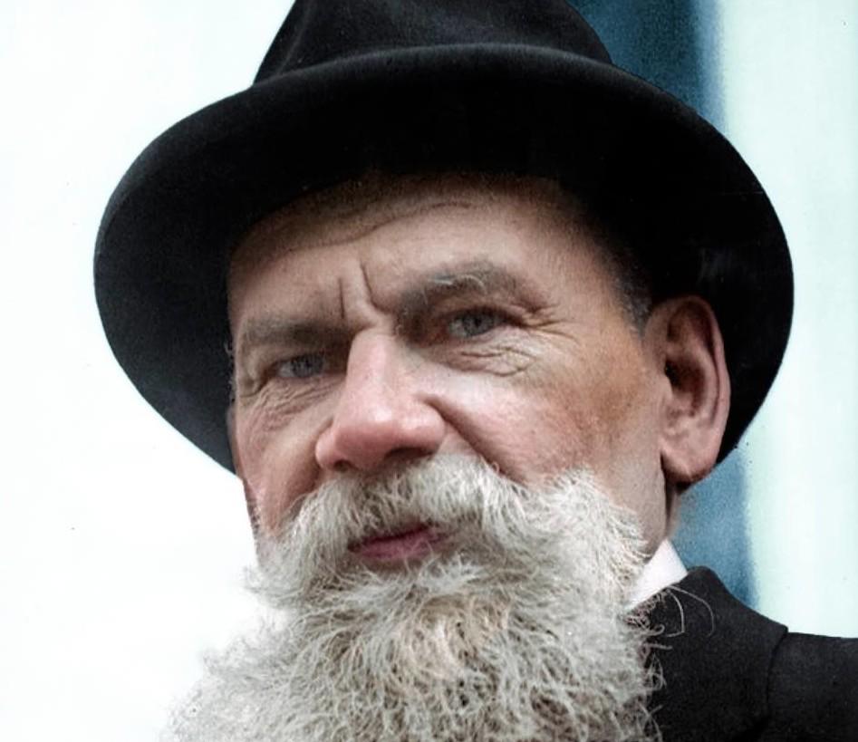 Илья Толстой-русский писатель, журналист и педагог, сын Льва Толстого. история., колоризированные снимки, люди, россия, фото