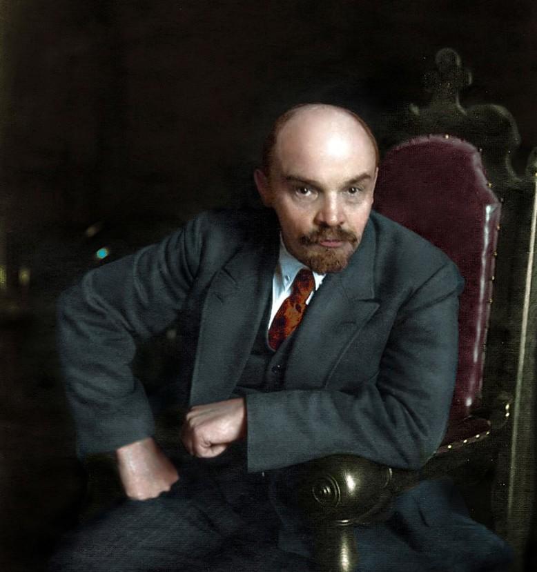 Ленин. история., колоризированные снимки, люди, россия, фото