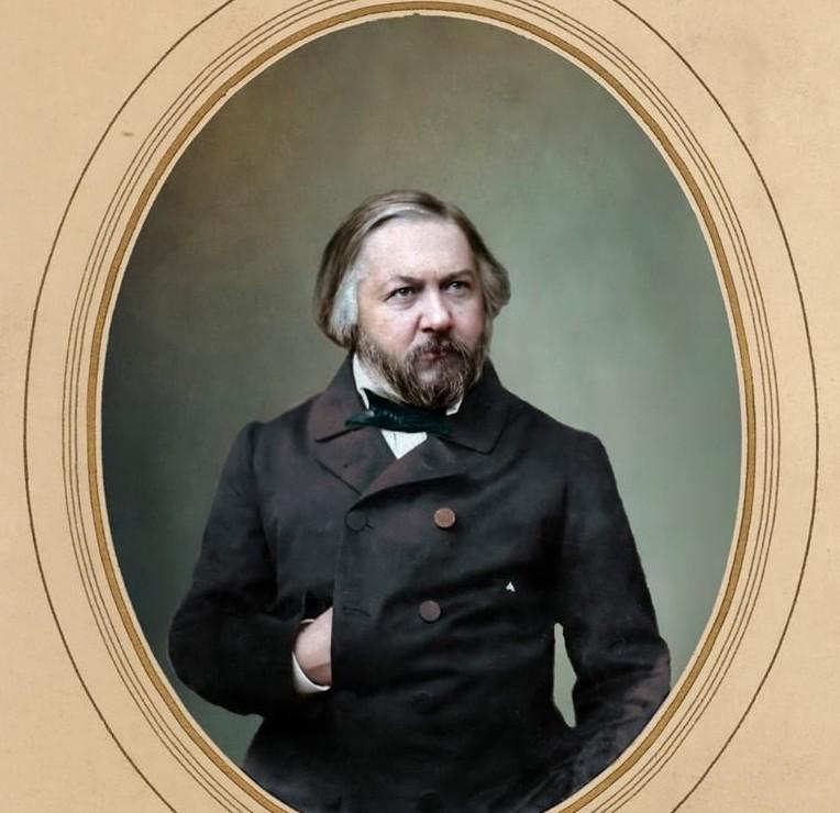 Михаил Иванович Глинка, 1856. история., колоризированные снимки, люди, россия, фото