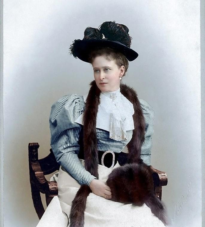 Великая княгиня Елизавета Фёдоровна. история., колоризированные снимки, люди, россия, фото