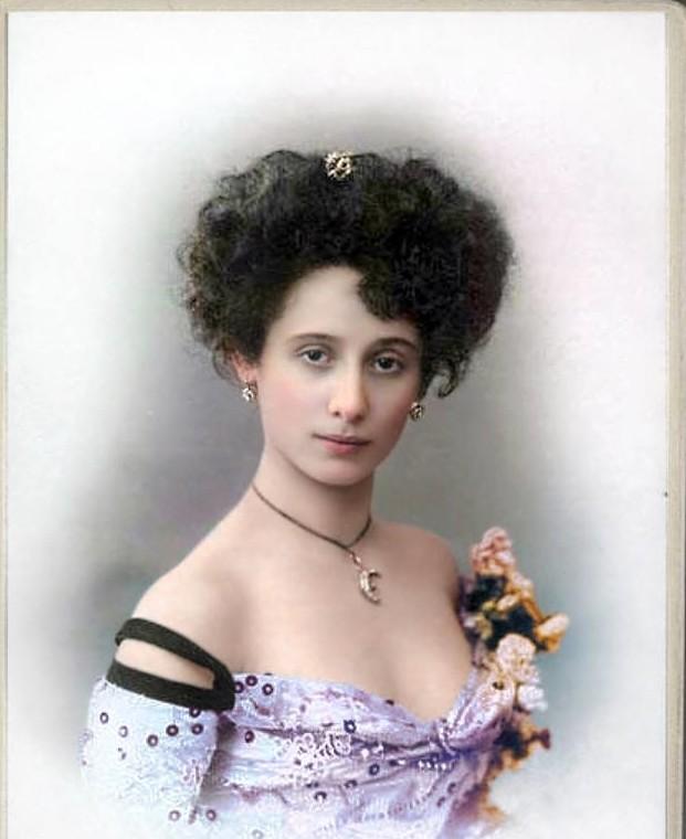Анна Павлова,  1905-1910. история., колоризированные снимки, люди, россия, фото