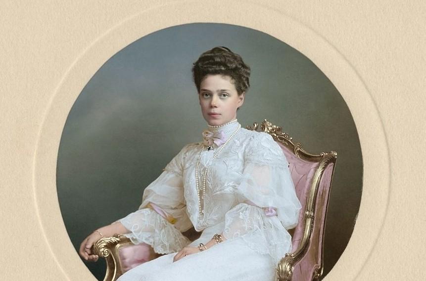 Ксения Александровна Романова - великая княгиня, дочь императора Александра III, сестра российского императора Николая II. история., колоризированные снимки, люди, россия, фото