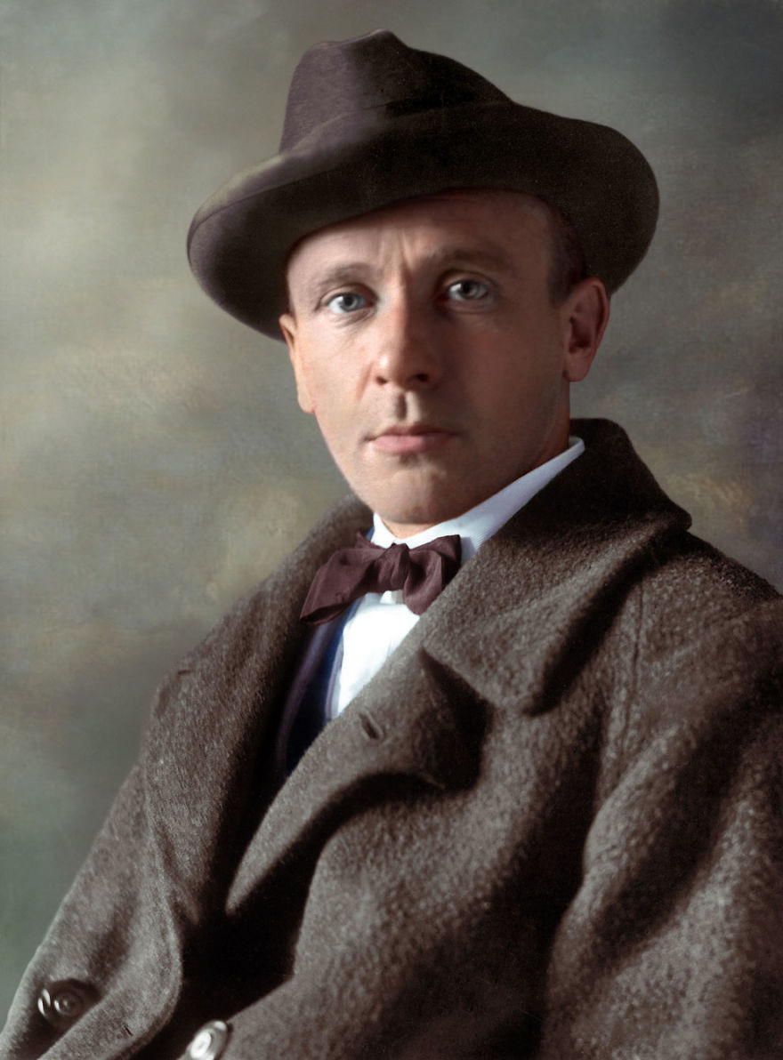 Михаил Булгаков, 1928 история., колоризированные снимки, люди, россия, фото