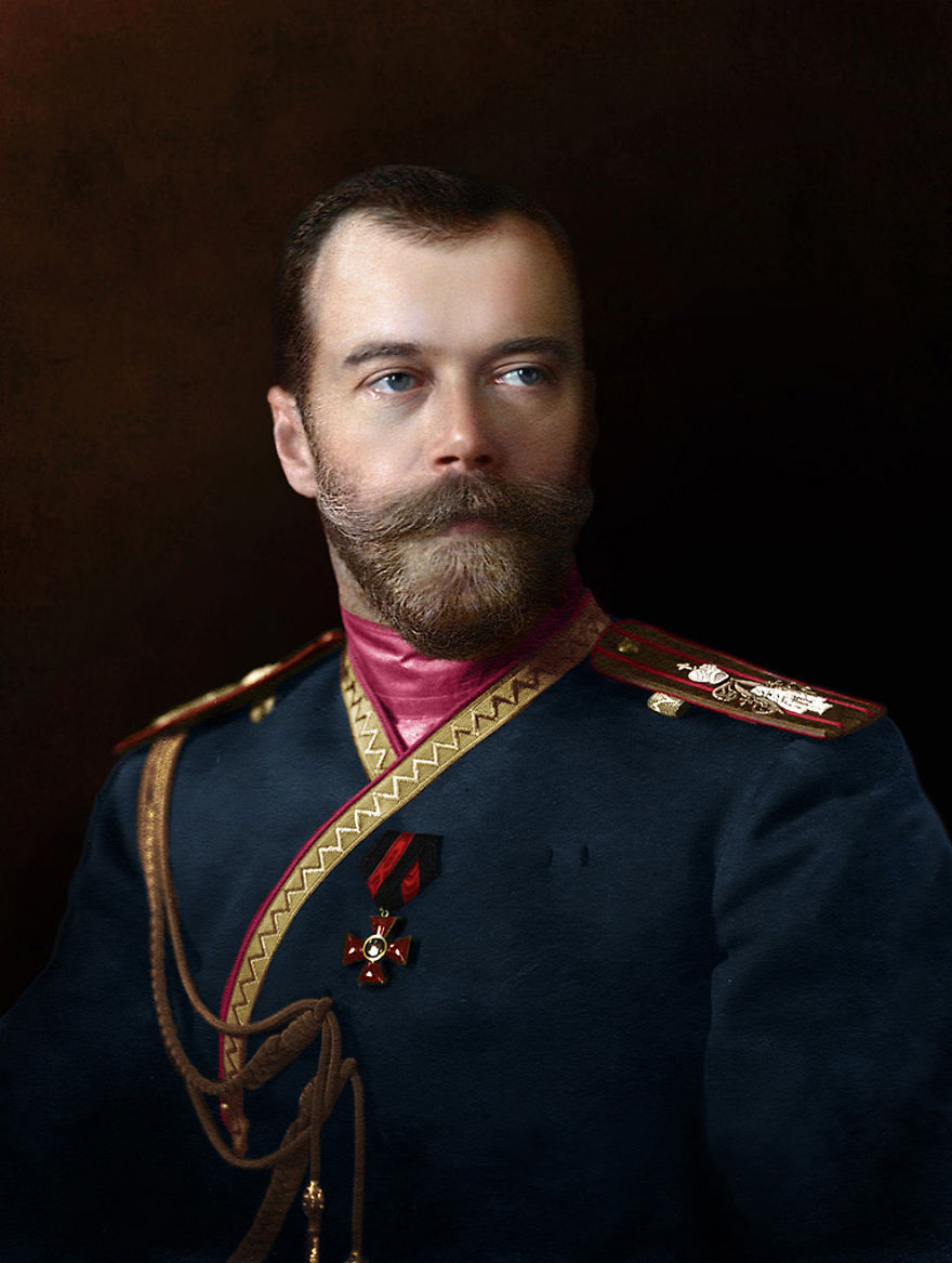 Николай II в мундире лейб-гвардии 4-го стрелкового полка императорской фамилии, 1912 история., колоризированные снимки, люди, россия, фото