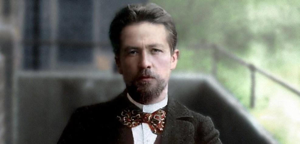 Антон Павлович Чехов. 1901. история., колоризированные снимки, люди, россия, фото