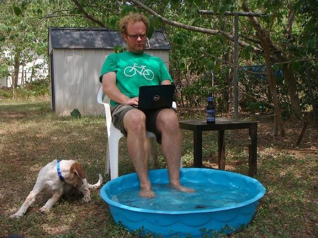 Пост посвящается всем тем, кто не был на море, но хочет освежиться Бюджетный вариант, бассейн, бассейн своими руками, водные процедуры, жара, из того что было, купание, на заметку