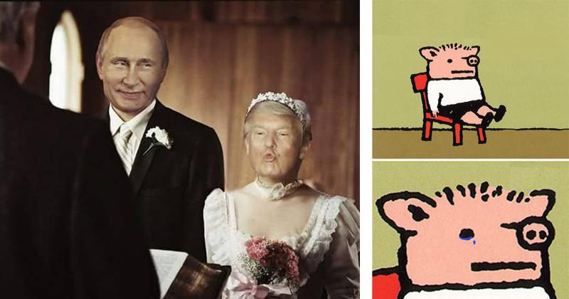 """""""Безвизовый"""" режим с США: реакция рунета Трамп, виза, прикол, путин, россия, соцсети, сша, юмор"""