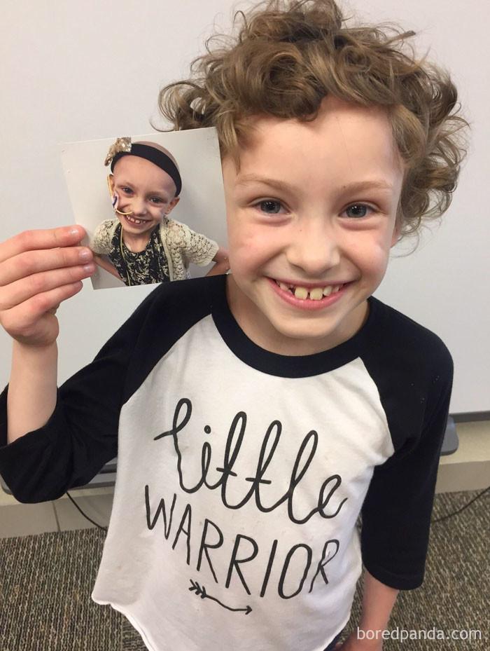 Первый и последний день 1-го класса - эта малышка одолела рак выздоровление, до и после, заболевание, недуг, преображение, рак, трансформация, фото