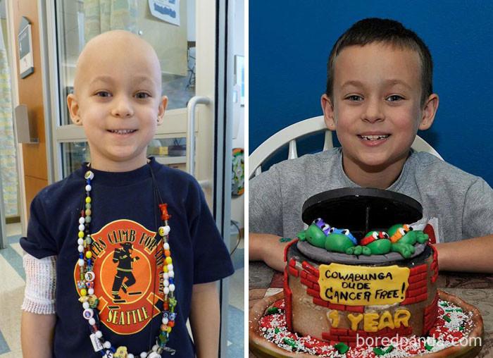Торт в честь праздника - 1 год без рака! выздоровление, до и после, заболевание, недуг, преображение, рак, трансформация, фото