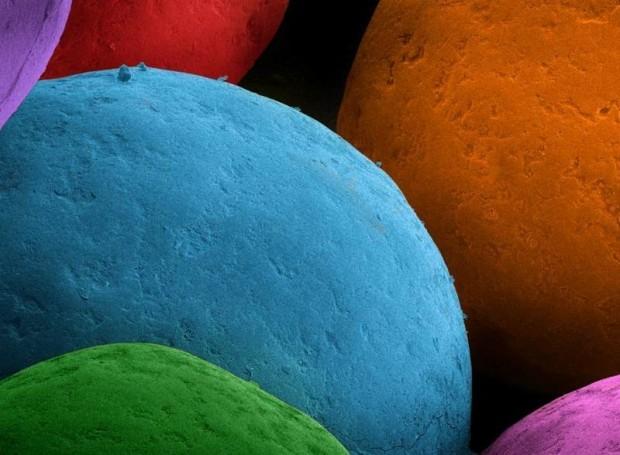 Присыпка для мороженого интересно, крупным планом, микромир, микроскоп, под микроскопом, поразительно, странности природы, удивительное рядом