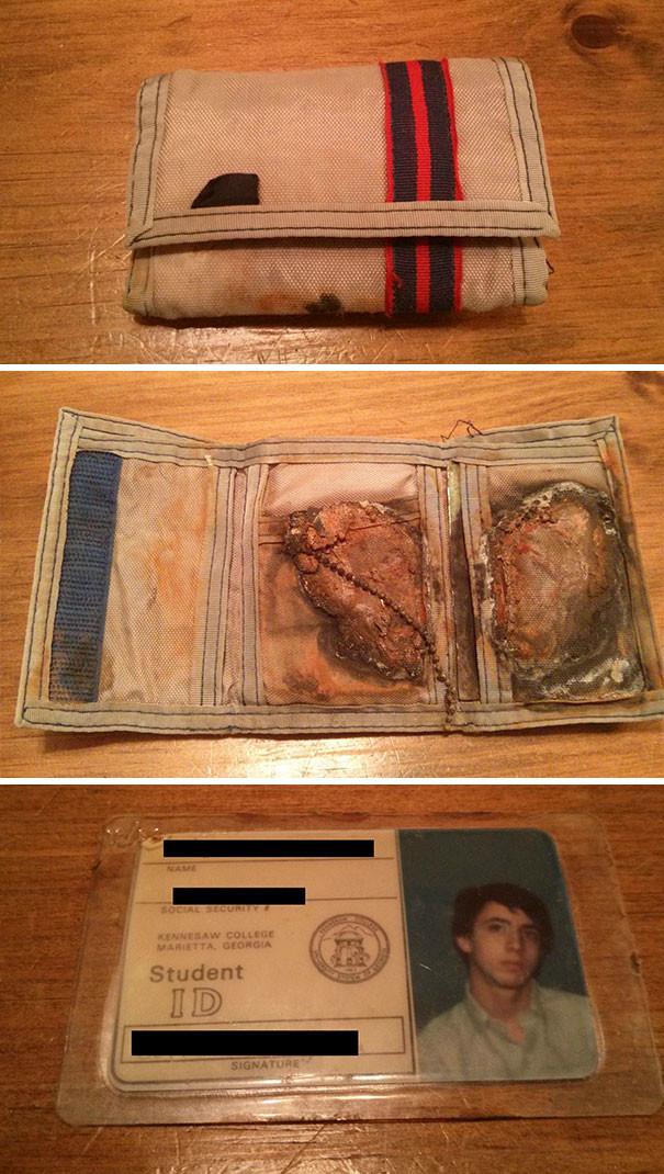 """""""Добрый самаритянин нашел кошелек, который я потерял в океане 24 года назад!"""" возвращение, находки, неожиданно, потеря, потерянные вещи, потеряшки, сюрприз, фото"""