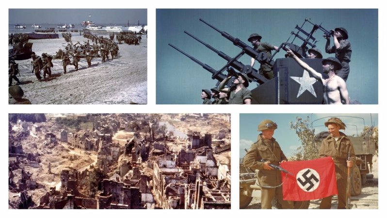 Высадка в Нормандии в 1944 году - фотографии в цвете архивные фотографии, военные фото, вторая мировая война, вторая мировая. фото, нормандия, франция