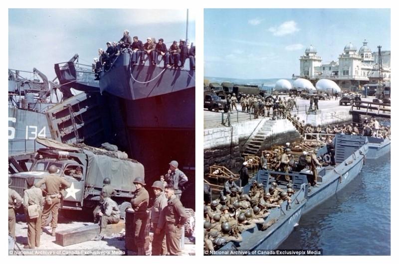 Время отправляться: погрузка на корабли, самое начало июня 1944 г. архивные фотографии, военные фото, вторая мировая война, вторая мировая. фото, нормандия, франция