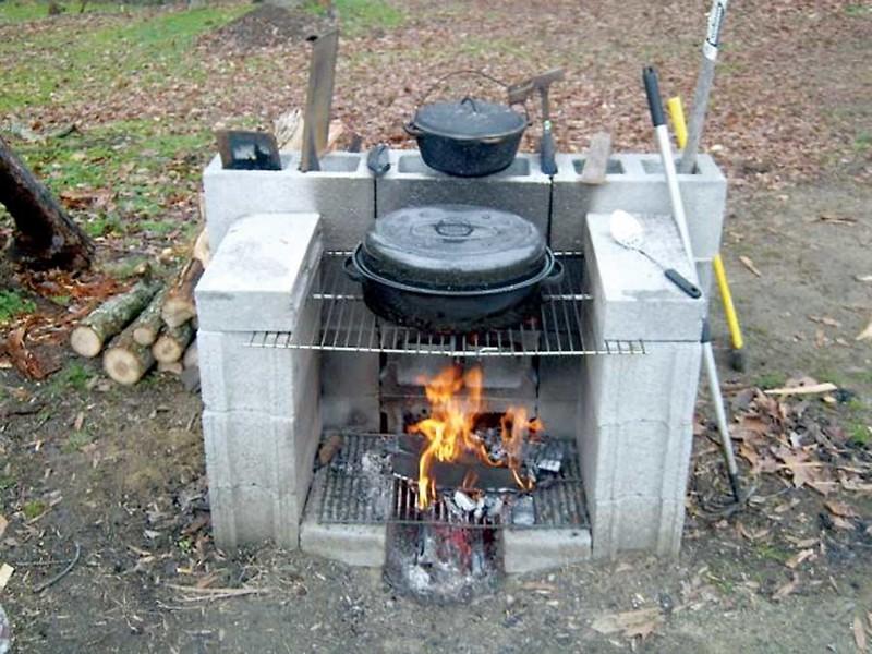 Или соорудить полноценную печь интересно, своими руками, фото, шлакоблоки