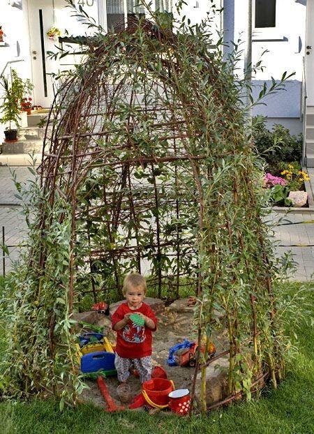 Уголок для детей деревья, заплести, интересное, красота, кустарник, сад, уход